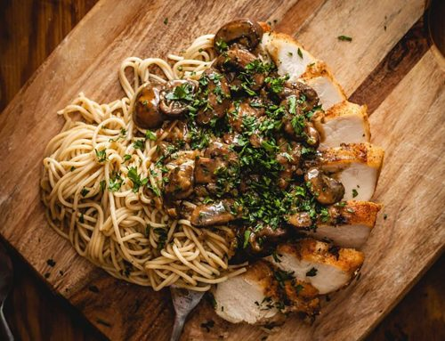 Sous Vide Chicken Marsala with Pasta