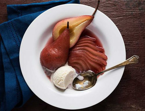 Sous Vide Red Wine-Poached Pears