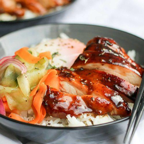 Super Simple Sous Vide Teriyaki Chicken Bowls